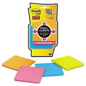 Post it Notes Super Sticky Full Adhesive Notes 3 X 3 Assorted 051141340371