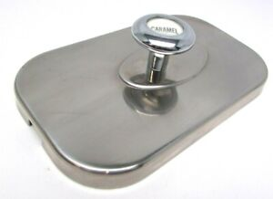 Vintage Soda Fountain Ice Cream Topping Dispenser Stainless Top Lid Caramel