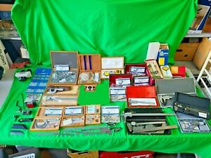 Huge Lot Of New Used Nsk Micrometers Calipers Misc Machinist Tools Japan As is