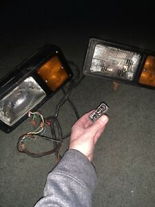 Western Unimount Plow Lights With Harness