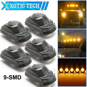 5x Smoked Lens Amber Led Cab Roof Clearance Lights For Ford F250 F350 Sd 2017