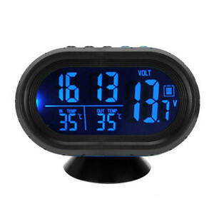 12 V Lcd Car Auto Digital Led Electronic Time Clock Thermometer With Backlight