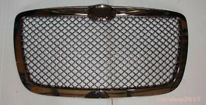 Chrysler 300 300c 2005 2010 Front Grill Hood Grille Chrome Smoke Bentley Style