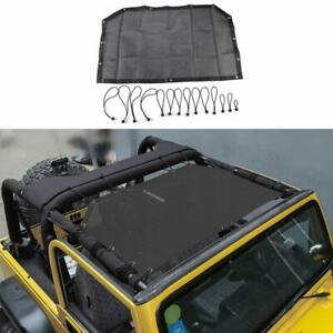 Roof Sunshade Top Cover Provides Uv Protection For 1997 2006 Jeep Wrangler Tj A
