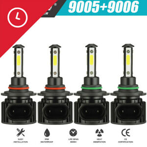4 side 9005 9006 Combo Led Headlight Kits High Low Beam Bulb 6000k 120w 32000lm