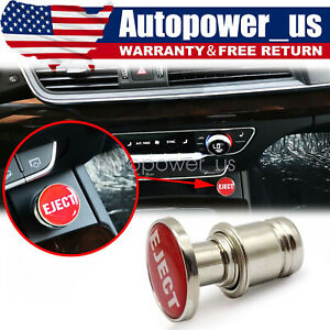 Universal Red Eject Push Button Car Cigarette Lighter Replacement Accessories