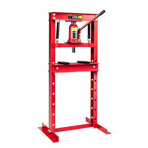 Ironmax 12 Ton Shop Press Floor H Frame Press Plates Hydraulic Jack Stand