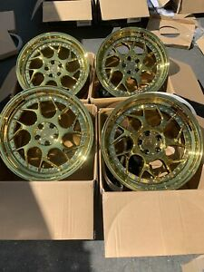 18x8 5 35 Aodhan Ds01 5x112 Gold Vacuum Wheels Used Set