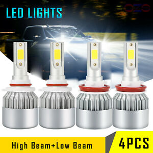 Combo Led Headlight Bulbs For Chevrolet Silverado 1500 2007 2015 High Low Beam