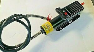 Air Foot Pump 10 000lbs Capacity Complete With Hydraulic Hose And 1 4 Coupler