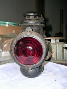 Antique Pat 1914 Ford E J No 3 414 Red Lens Clear Side Lens Tail Light Lamp