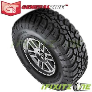 1 General Grabber X3 33x12 50r17lt 114q Red Letter Jeep Truck Mud Tires