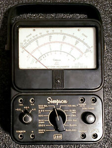 Simpson 260 Series 6 Analog Volt Ohm Milliammeter Tested