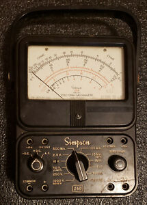 Simpson 260 Series 5 Analog Volt Ohm Milliammeter Tested