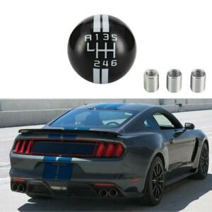 5 Speed Black Round Car Shift Knob Shifter Manual For Ford Mustang Shelby Gt500