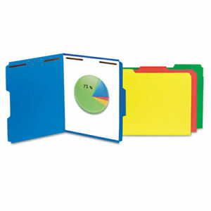 Deluxe Reinforced Top Tab Folders With Two Fasteners 1 3 cut Tabs Letter