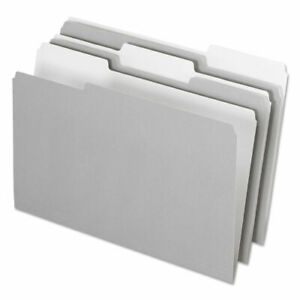 Interior File Folders 1 3 cut Tabs Legal Size Gray 100 box