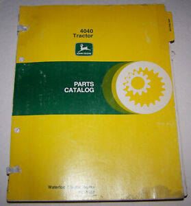 John Deere 4040 Dealer Parts Catalog Pc 1610