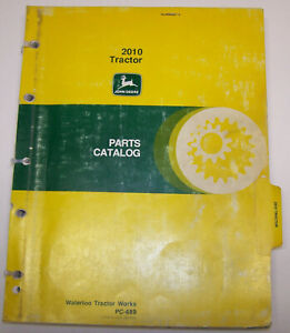 John Deere 2010 Dealer Parts Catalog Pc 689