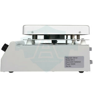 3000ml Magnetic Stirrer 500w With Heating Plate Mixer Machine For Chemical Lab