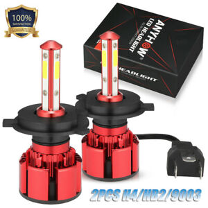 Anyhow 130w 13000lm 4 Sides Led Headlight H4 9003 High low Beams 6000k Bulbs