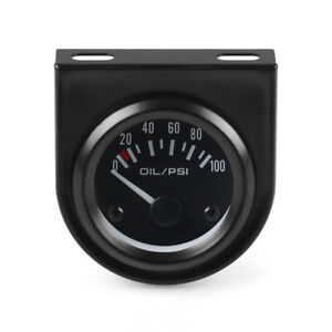 2 52mm Led Pointer 0 100 Psi Oil Pressure Gauge Fuel Press Meter With Sensor