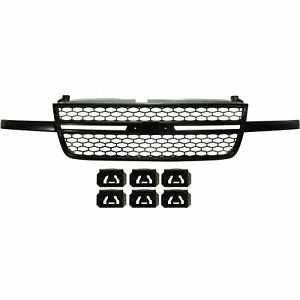 New Black Grille Assembly For 2003 2006 Chevrolet Silverado Ss Ships Today
