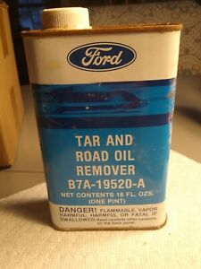 Vtg Ford Tar Road Oil Remover Can