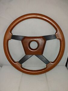 Porsche 911 930 944 Vtg Italy Momo Steering Wheel 80s Wood Bmw E30 Mercedes Jag