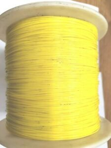Teflon 22 Awg Yellow 1213 22 Stranded Wire Spc 19 Per 40ft Section Free Shipp