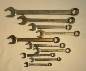 Vtg 10 Piece Lot Par X By Snap On Usa Combination Wrench Set Sae 12 Point Parx