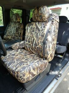 1999 2002 Chevy Truck Front Captain Chairs Integrated Belts Seat Covers Camo