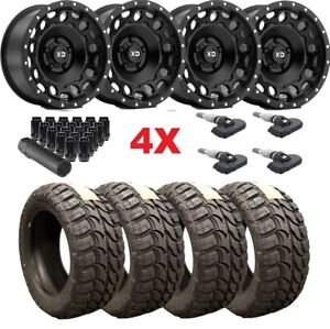 Black Xd Wheels Rims Tires 35 12 50 20 35 12 50 20 Mud F 150 Fuel Rhino