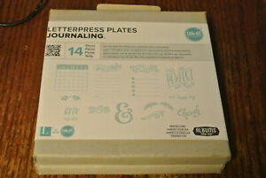 New Letterpress Plates Journaling We R Memory Keepers New 14 Pieces