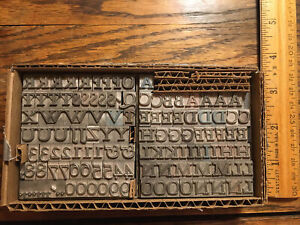 Hadriano Stonecut 30 Pt Letter Press Printing Type Font