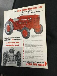 International Ih 300 Utility Tractor Brochure