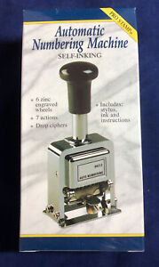 Rogers Automatic Numbering Stamp Machine With Ink And Stylus 7 Different Actions