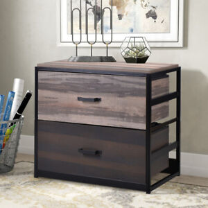 2 Drawer File Cabinet Wooden Vertical Filing Cabinet For Home Office Us Stock