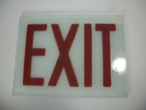 Vintage Exit Sign Glass 8 X 6 Replacement