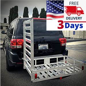 Snow Blower Carrier Transport Ramp Hauling Snowblower Ramps Hitch Transporting