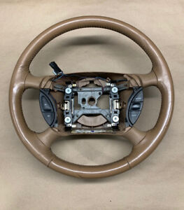 94 95 Mustang Gt Svt Cobra Tan Leather Wrapped Steering Wheel