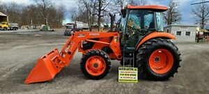 2017 Kubota M7060d Cab Loader Tractor Only 147 Hours Hydraulic Shuttle