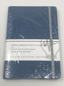 Undated Daily Planner Productivity Weekly Monthly Agenda Goal Notebook Hardcover