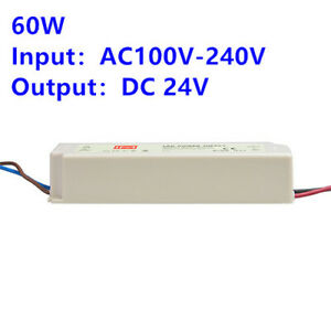 60w Led Power Supply Transformer Driver Waterproof Rubber Shell Power Supply