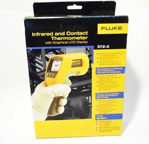Fluke 572 2 Infrared And Contact Thermometer With Graphical Lcd Display