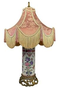 French Louis Xv Chinoiserie Pagoda Bronze Ormolu Chinese Export Porcelain Lamp