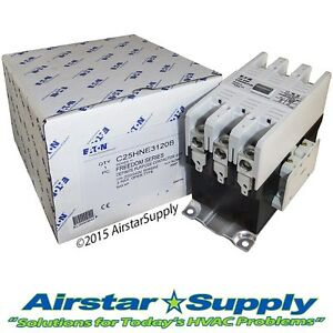 120 Amp Contactor C25hne3120b Eaton Cutler Hammer 3 Pole 208 240 V Coil