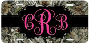 Camouflage Camo Pink Personalized Monogrammed License Plate Custom Auto Car Tag