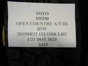 1 New Toyo Open Country A T Iii Bsw 285 50 22 121 118r Lre Tire 355290 Q1