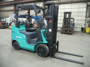 2010 Mitsubishi Fgc25n lp 5 000 5000 Cushion Tired Forklift W 3 Stage Ss